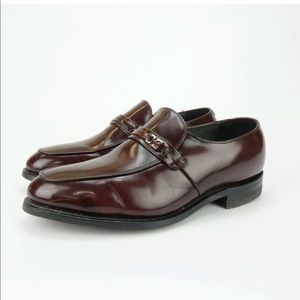 BOSTONIAN IRON AGE STEEL TOE BURGUNDY LOAFERS